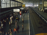Waterloo Commuters Photographic Print