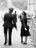 Policeman and Policewoman Photographic Print