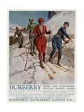 Advert for Burberry Winter Sports Wear 1928 Giclee Print