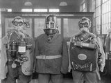 Industrial Gas Masks Photographic Print
