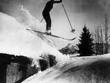 Rooftop Skiing! Photographic Print