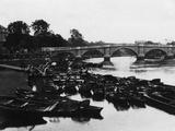 Empty Thames Punts Photographic Print