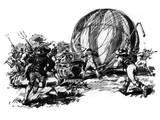 Montgolfier Cartoon Photographic Print