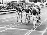 Cycle Racing Photographic Print