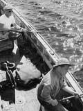 Irish Fishermen Photographic Print