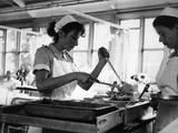 Nurses Serving Food Photographic Print