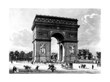 Paris, France - Arc de Triomphe Giclee Print