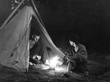 Camping Supper Photographic Print