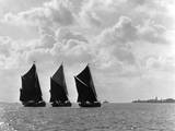 Coastal Sailing Barges Photographic Print