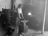 Female Blacksmith Photographic Print
