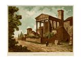 Italy, Cori, Temple Giclee Print