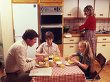 Family Breakfast Photographic Print