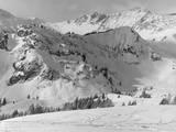 Montañas nevadas Lámina fotográfica