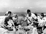 Beach Picnic Photographic Print