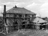 Building a House 1930S Photographic Print