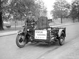 Charlady's Motorcycle Photographic Print