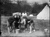 Girls Camping 1930S Photographic Print