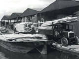 Unloading Timber 1930S Photographic Print