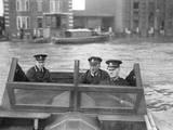 River Police Patrol Boat Photographic Print