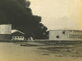 Madras Fuel Tanks on Fire, WWI Photographic Print