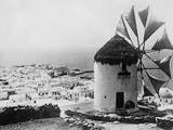 Greek Windmill Fotografická reprodukce