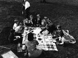 Kids Picnic 1930s Photographic Print