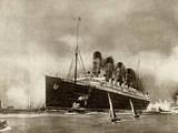 Cunard Liner Lusitania 1915 Papier Photo