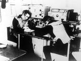 German Navy Signal Room Photographic Print