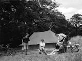 Camping Conviviality Photographic Print