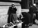 Prague Fruit Seller Photographic Print