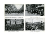 Parisians Celebrate Peace Treatry, France, 1919 Giclee Print