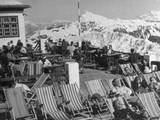 Alpine Holidaymakers Photographic Print