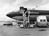 Boarding a Boac 707 Photographic Print