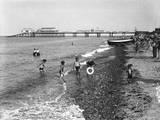 Cromer Beach 1930s Photographic Print