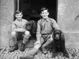 Boys and Spaniels Photographic Print