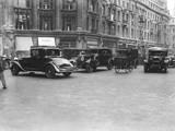 London Traffic 1930S Valokuvavedos