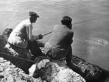 Hungarian Anglers Photographic Print