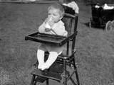 Baby Drinking Milk Photographic Print