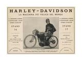 Harley-Davidson Advert Giclee Print
