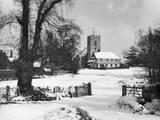 Essex Snow Scene Photographic Print