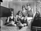 Girls on Sun Bed Photographic Print