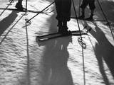 Skiing Shadows Photographic Print
