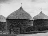 Thatched Corn Ricks Photographic Print