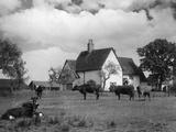 Bedfordshire Farmhouse Stampa fotografica