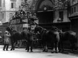 London Horse Bus Photographic Print