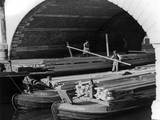 Timber Barge 1940s Photographic Print