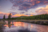 Sky Magic at Sunset in Yellowstone National Park Photographic Print by Vincent James