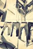 Clothes Airing Outdoor in Venice, Italy. Black and White, Instagram Style Filter Photographic Print by  Zoom-zoom