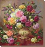 Roses from a Victorian Garden Stretched Canvas Print by Albert Williams