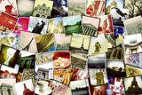 Collage of Different Snapshots of Different Landmarks and Scenes of Paris with Filter Effect Photographic Print by  nito